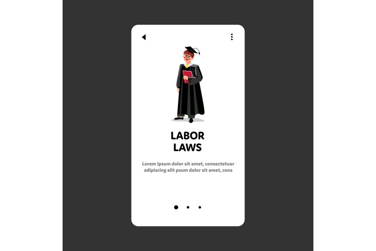 Labor Laws Professional Justice Judge Man Vector example image 1