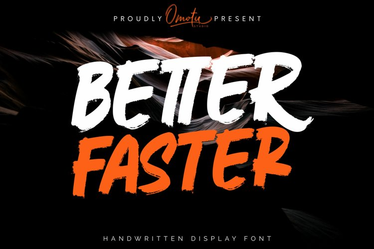 Better Faster | Handwritten Display Font example image 1