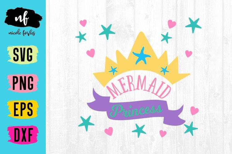 Mermaid Princess SVG Cut File example image 1