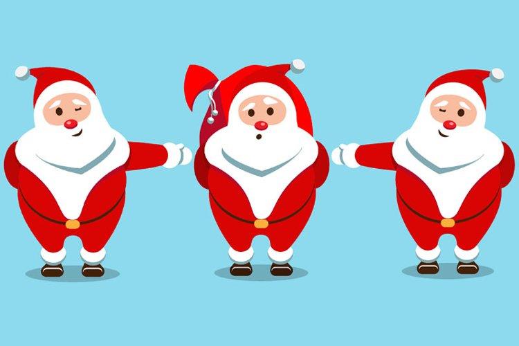 Santa Claus Christmas character set of 8 illustrations example 1