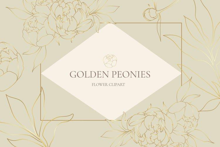 Golden peonies