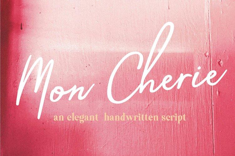 Mon Cherie Handwritten Font example image 1