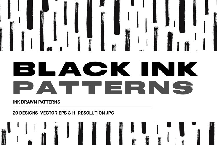 Black Ink - 20 Vector Patterns