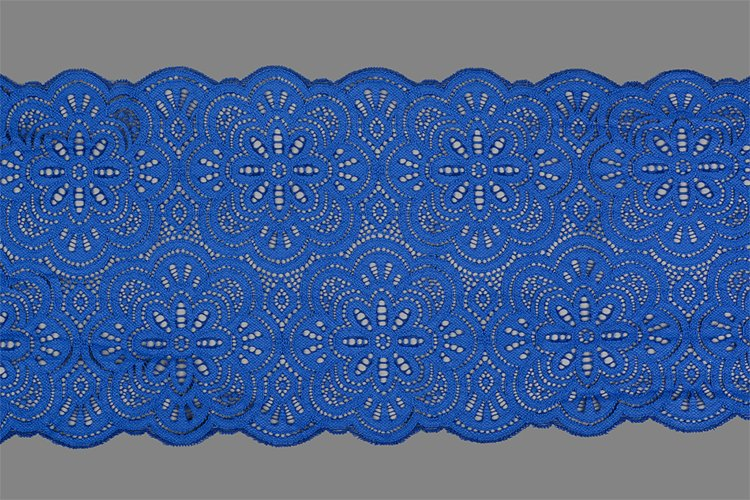 blue straight strip of lace fabric. Texture for web example image 1