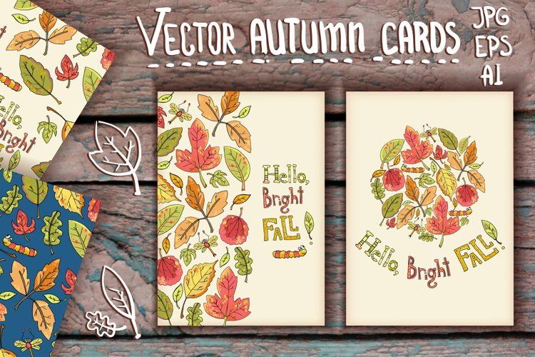 Vector hand drawn leaves example