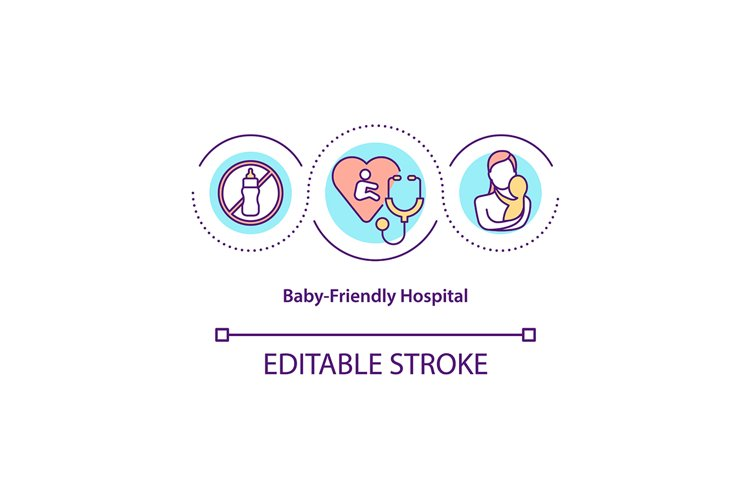 Baby-friendly hospital concept icon