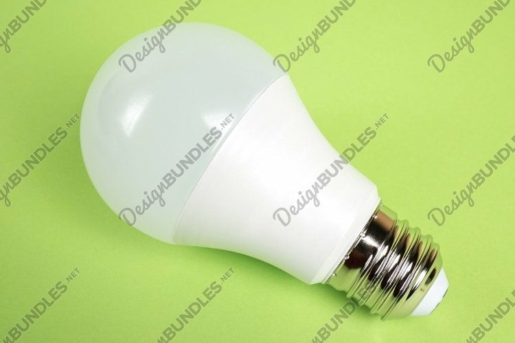 Led lamps on green background