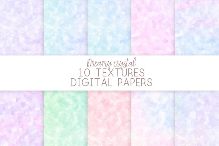 Crystal Texture Digital Papers