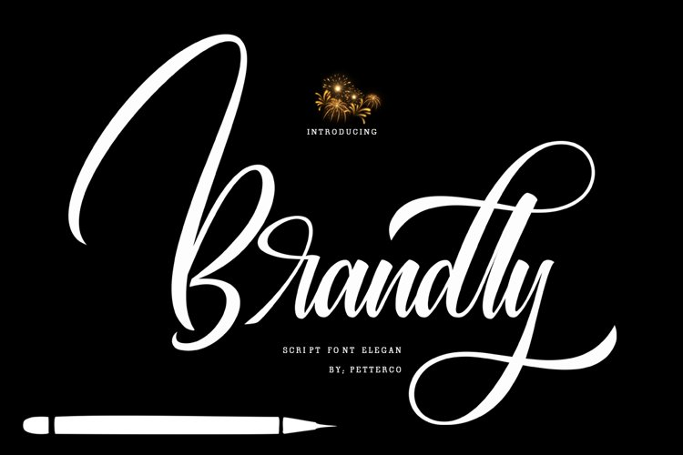 Brandly script font modern