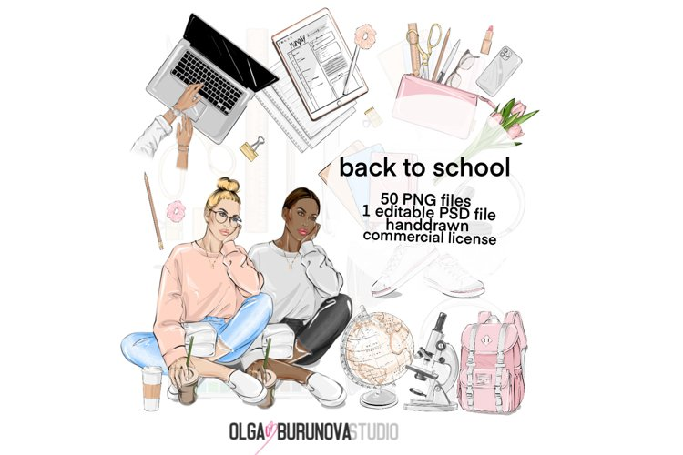 Back to school clipart, school clipart, college clipart