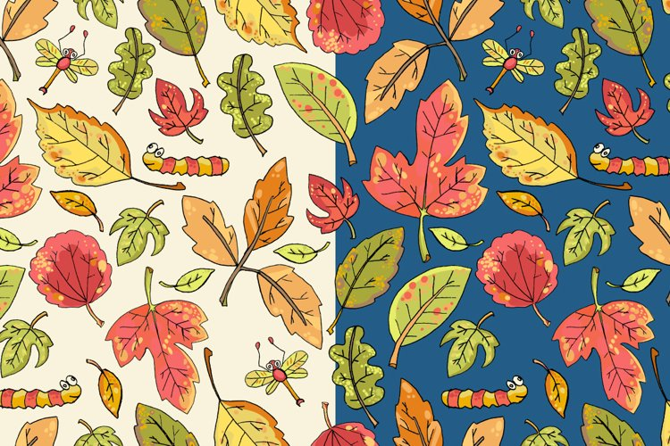 Vector hand drawn leaves example 1