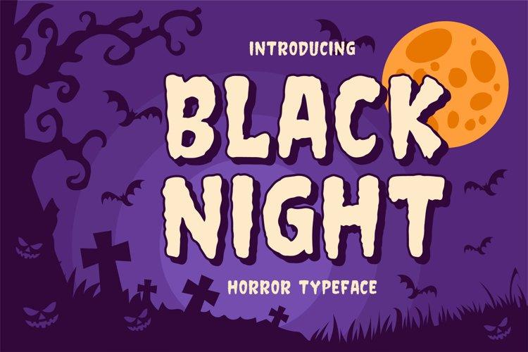 Black Night - Horror Typeface example image 1