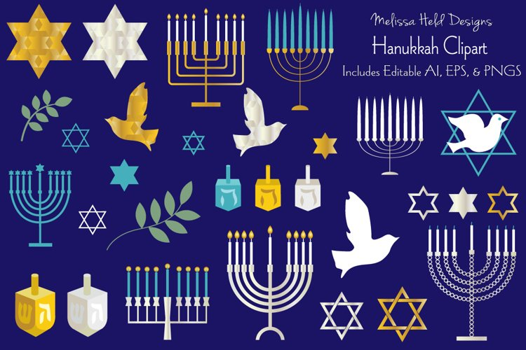 Hanukkah Clipart Graphics example image 1