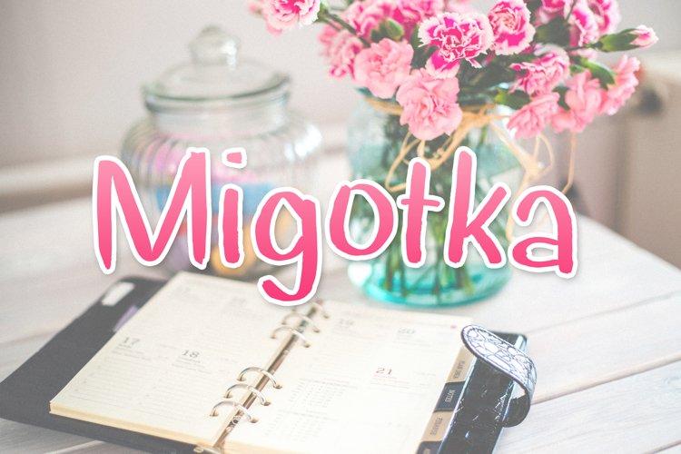 Migotka Font example image 1