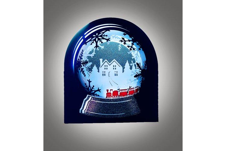 Snow Globe Winter wonderland Train