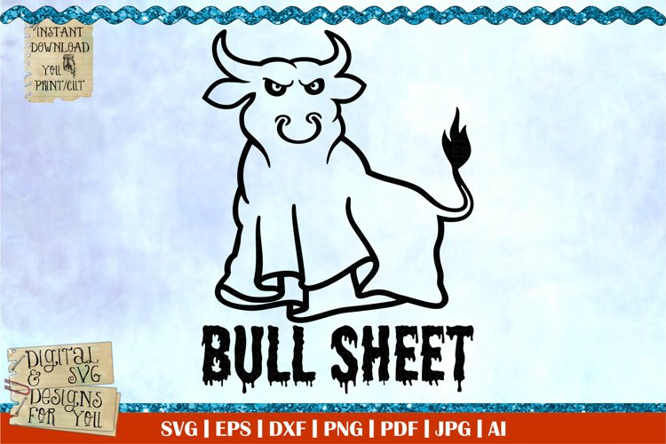 Bull sheet | Halloween svg | ghost svg | boo svg | scary svg example image 1