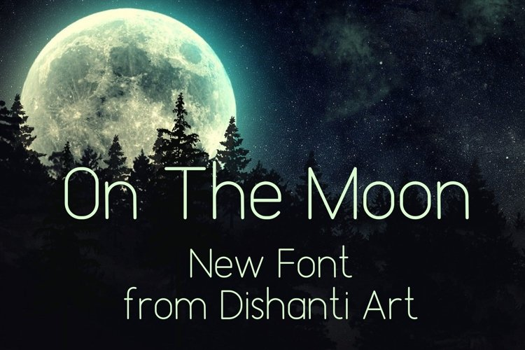 On The Moon Display Font example image 1