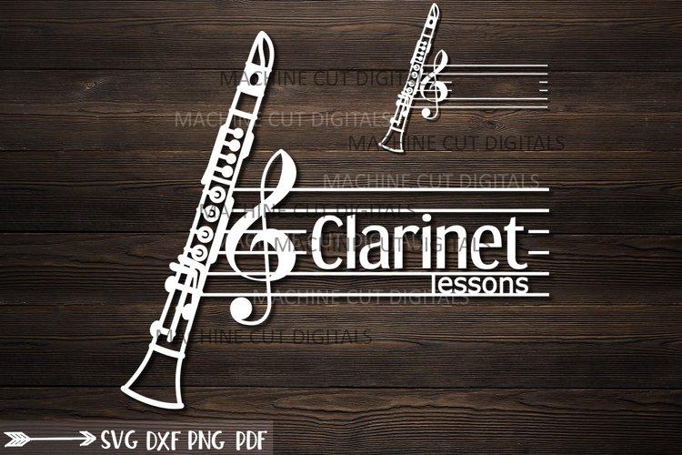 Clarinet classes split monogram for name logotype svg cut example image 1