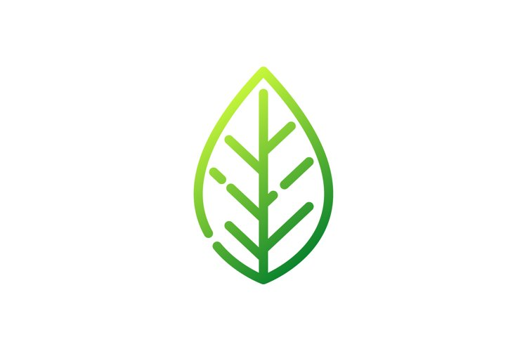 Vector design of an abstract green leaf icon example image 1