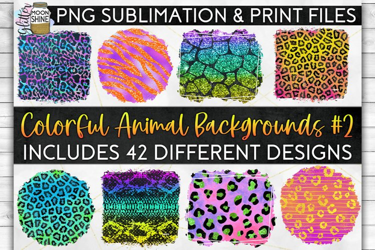 Colorful Animal Print Bundle 42 Sublimation Background PNG