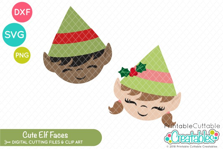 Cute Elf Faces SVG example image 1
