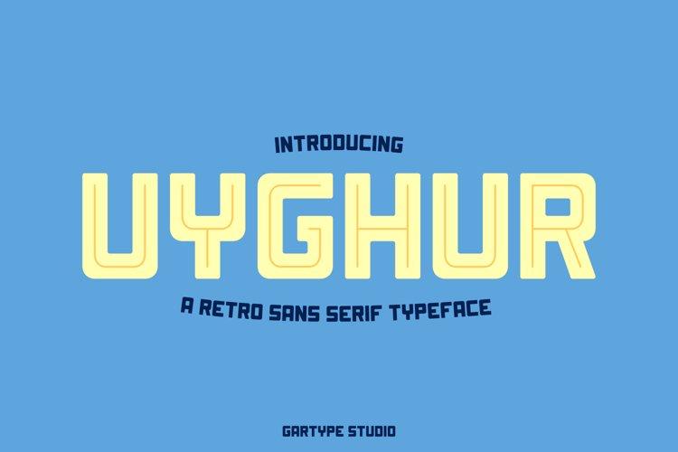 Uyghur - Retro Font // Web Font example image 1