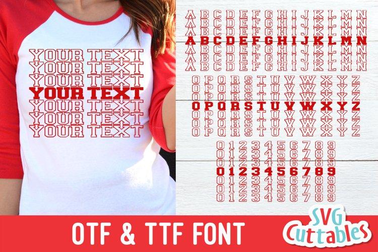 JP Mirror Font | Athletic Font | Collegiate Font