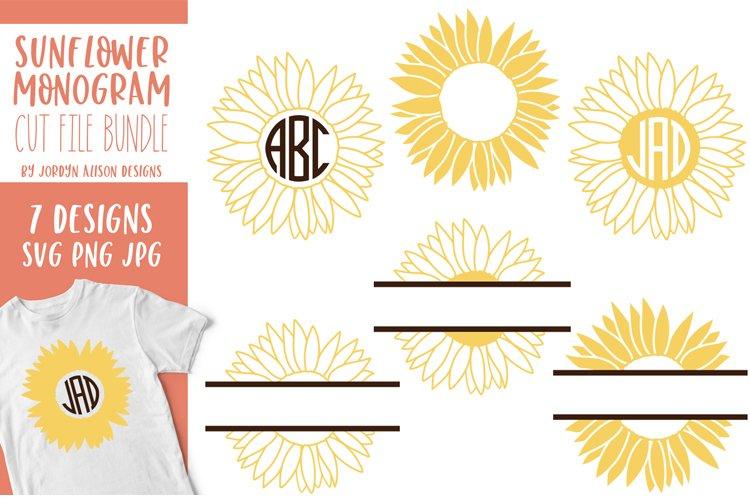 Sunflower Monogram Bundle, SVG Cut Files - Free Design of The Week Design3