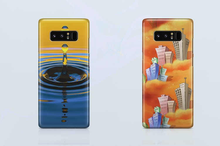 Samsung Galaxy Note 8 3d Case Mockup Back View example image 1