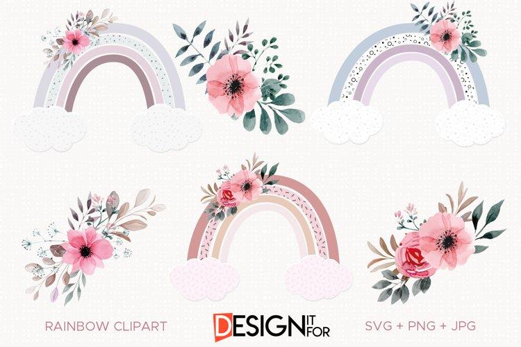 Rainbow Clipart, Rainbow Svg Clip art, Baby Shower Svg