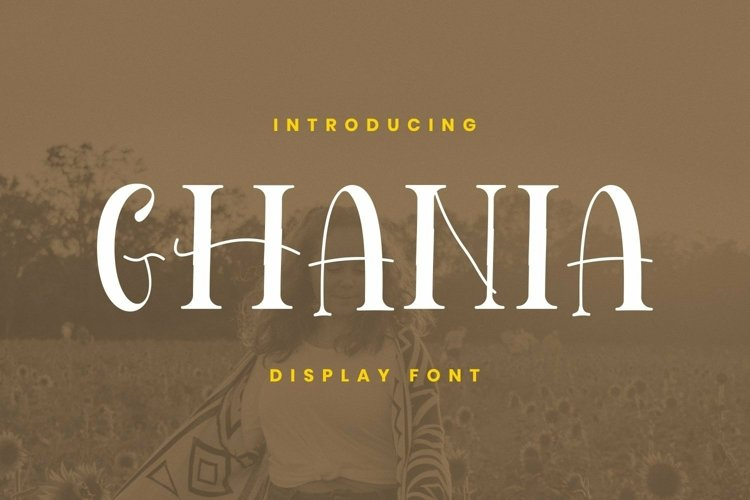 Web Font Ghania Font example image 1