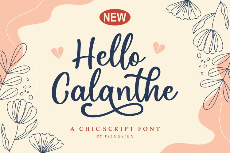 Hello Calanthe a Chic Script Font example image 1