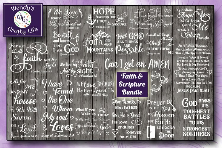 Faith & Scripture Bundle - 20 SVG & PNGs