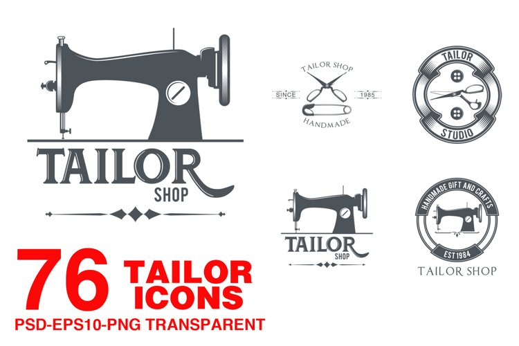 76 Tailor icons example image 1