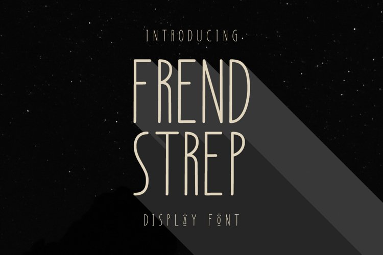 Frend Strep Display Font example image 1