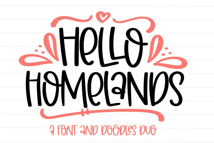 Hello Homelands - A Font & Doodles Duo example image 1