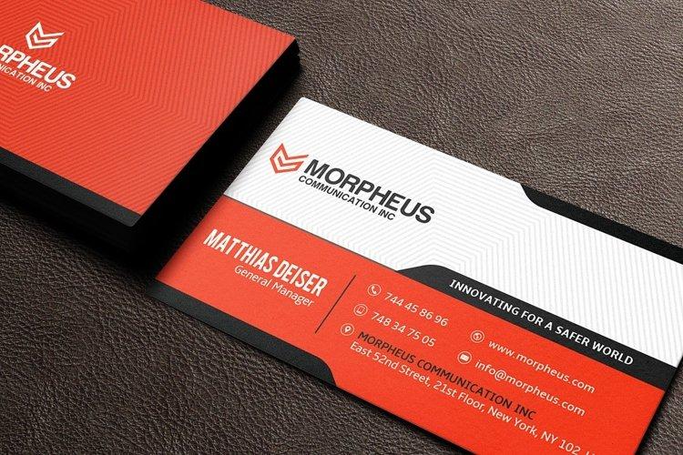 Orange Business Card example 2