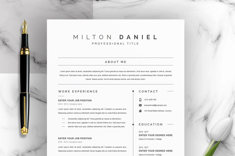 Professional Word Resume CV Template example image 1
