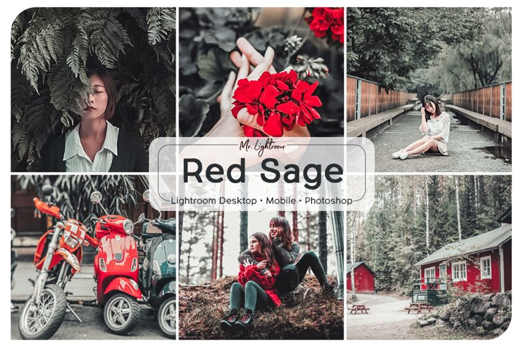Red Sage Lightroom Desktop and Mobile Preset example image 1