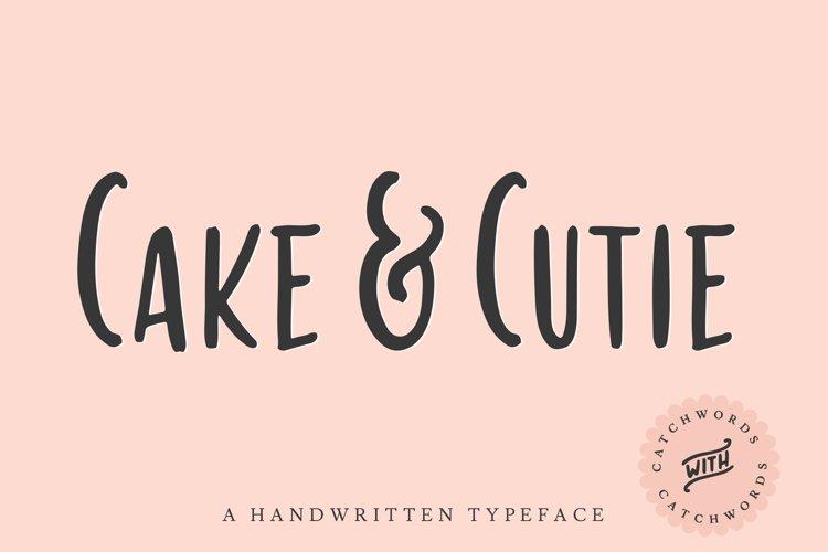 Cake & Cutie   A Handwritten Typeface example image 1