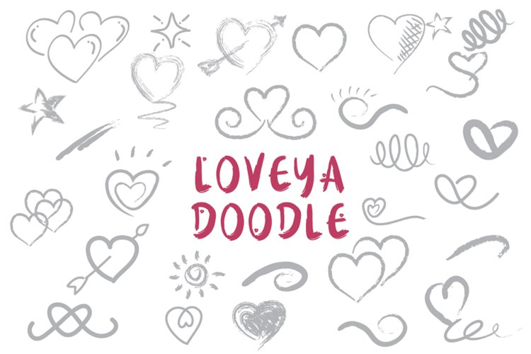 Loveya Script (Font Duo + Extras) example 7