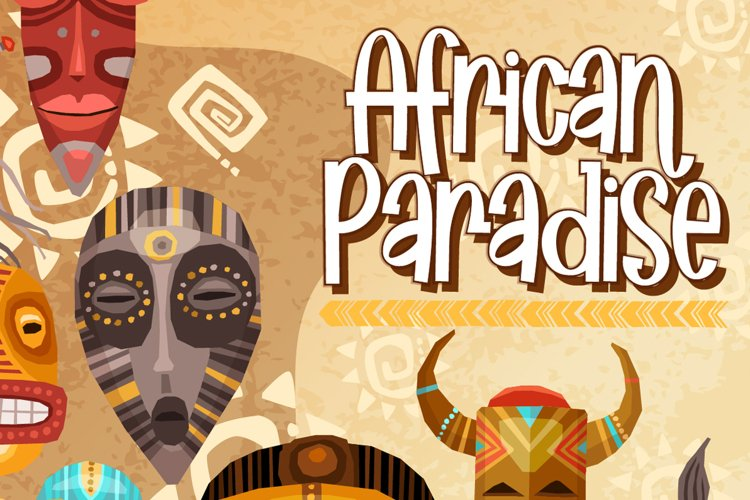 African Paradise - Display Trio Fonts example image 1