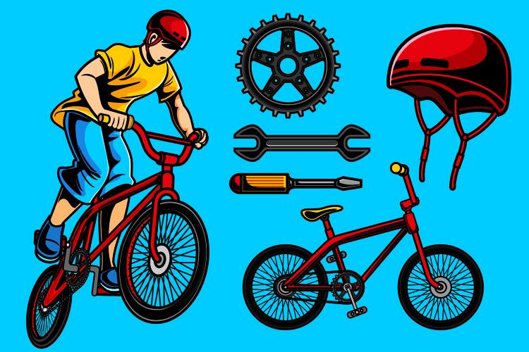 Biker Vector Pack example image 1