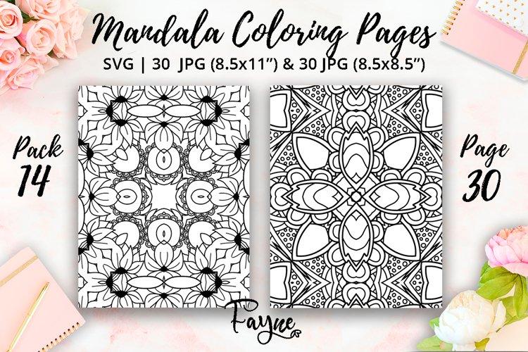 Mandala coloring pages 14  abstract pattern   KDP template