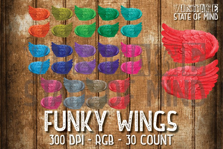 Funky Wings Sublimation Graphics example image 1