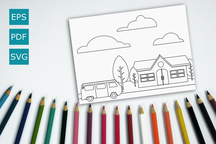 Coloring page scholl example image 1