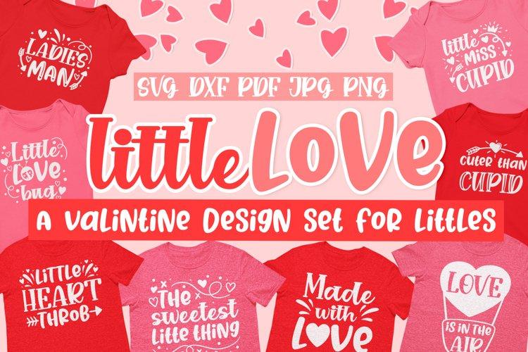 Little Love kids Valentine's Day SVG design Bundle example image 1