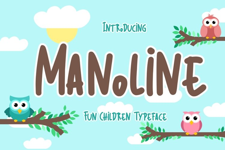 Manoline Fun Children Typeface example image 1