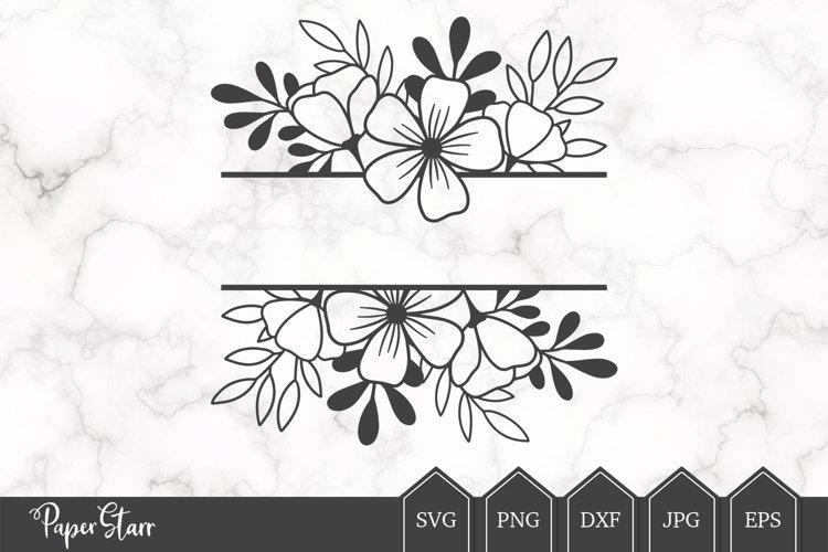 Floral Border SVG Cut File, Floral Monogram SVG
