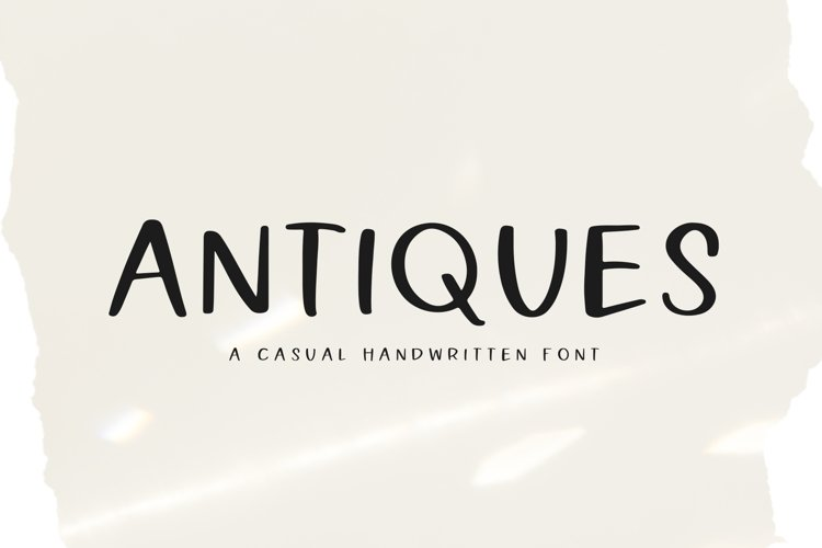 Antiques - A Handwritten Font example image 1